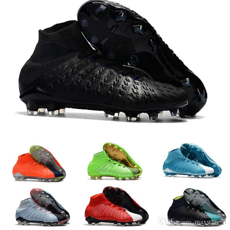 new styles 91a4e 309ae 2018 Top Quality Designer Hypervenom Phantom DF FG 3D Outdoor Soccer Cleats  Trainers Mens Football Boots Soccer Shoes 39-45 Mercurial Superfly Fg Cheap  ...