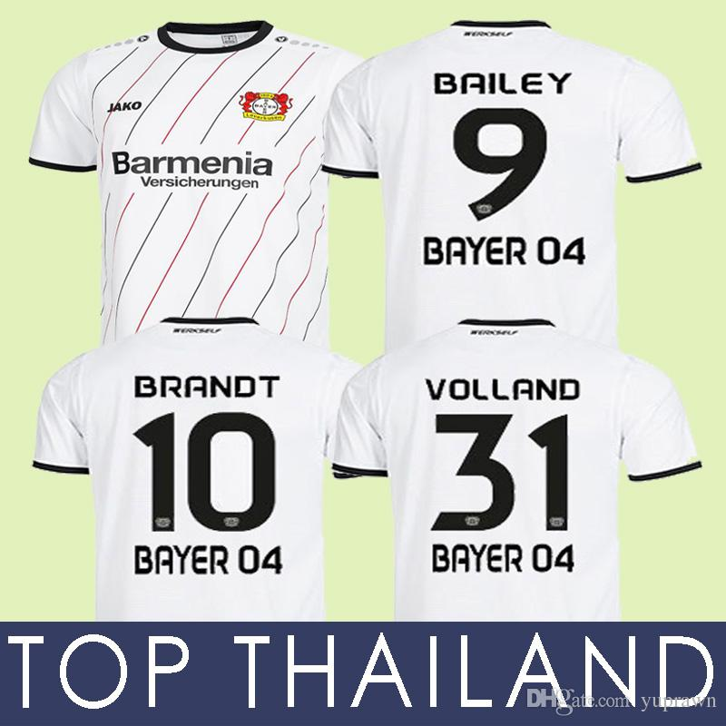 2019 18 19 Bayer 04 Leverkusen 30 YEARS Away Soccer Jersey 2019 New Bayer  04 Leverkusen Jerseys BRANDT Havertz Alario Bailey Volland Shirt Trikot  From ... f7bb5735868a5