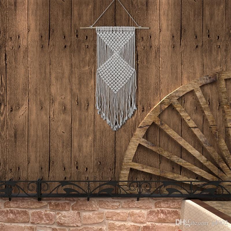 태피스트리 새로운 스타일 수제 보헤미아 직물 면직물 장식품 홈 가구 벽 장식 펜던트 태피스트리 40 5sj V