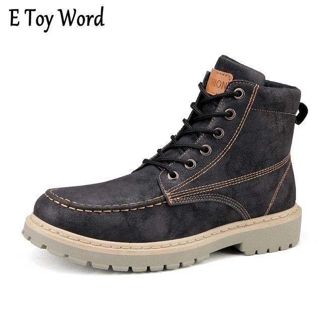 51d824c3f Compre 2019 Novas Botas De Moda Homens Ankle Boots Homens Inverno Motocicleta  Botas Masculinas Oxfords Sapatos De Couro Dos Homens Martin Casual Shoes ...