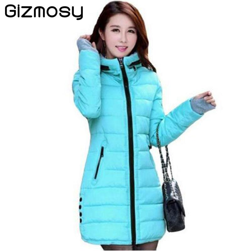4cc73e0f3e 2019 Wholesale 2017 New Winter Jacket Women Cotton Coat Slim Long Hooded  Parkas Ladies Warm Padded Plus Size Jackets Women Snow Wear BN007 From  Felix06