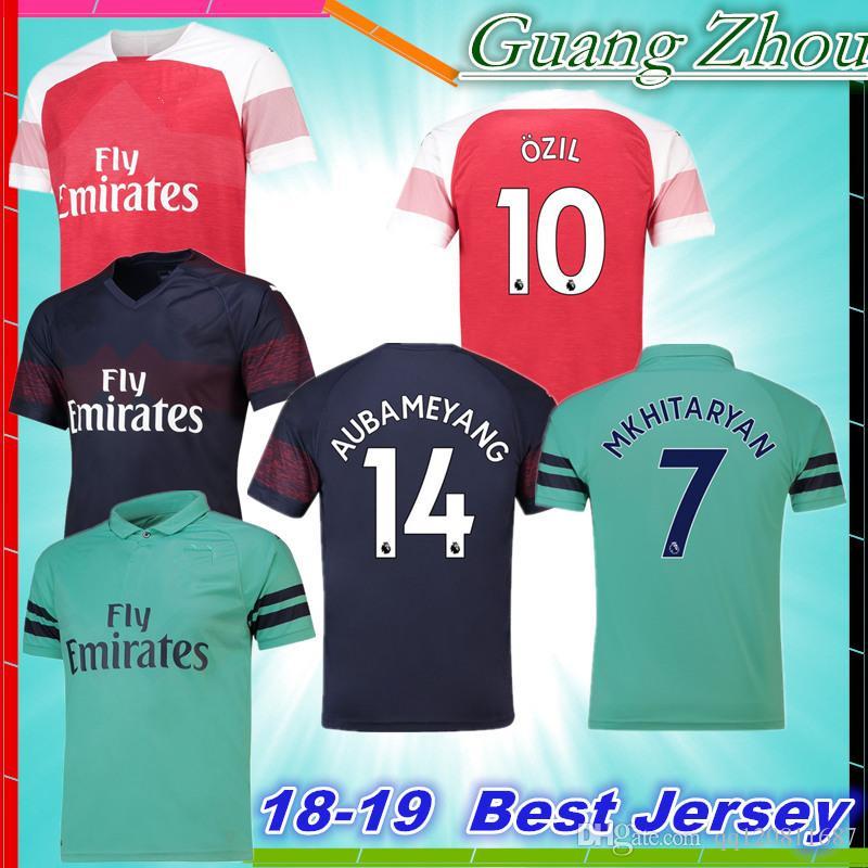 776afbf61ba 2018 2019 OZIL Soccer Jersey LACAZETTE XHAKA AUBAMEYANG 1819 IWOBI ...
