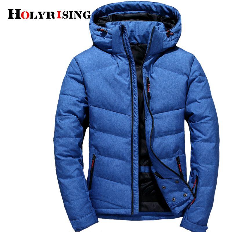 Holyrising 2018 Fashion Brand Winter Men Down Jacket Casual Mens ... 6141ea4c5