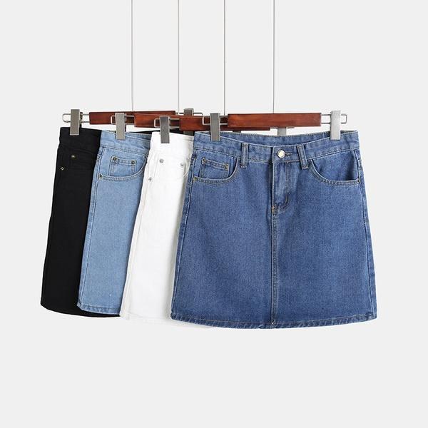 Compre Faldas De Mezclilla Cortas Mujer Bodycon Jeans Falda Mujer A  14.08  Del Mintian73748096  6a6cafd995ea