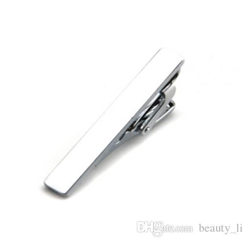 cbed72d45648 Mdiger Fashion Short Paragraph Men's Tie Clips Simple Iron Tie Clip ...