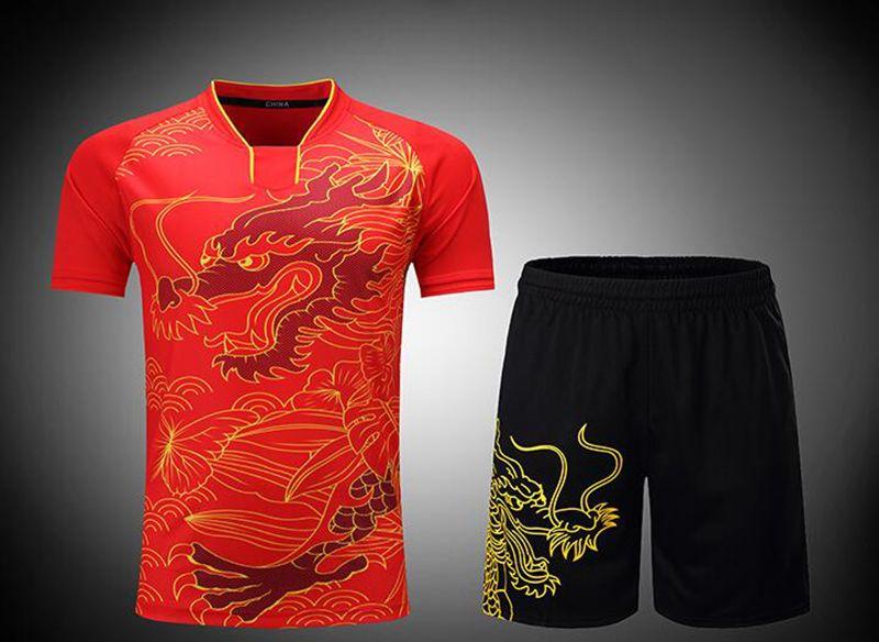 New Badminton Jersey Desgaste Conjunto de Roupas de Tênis De Mesa Homens Roupas Masculinas Terno de Manga Curta Camisa de Badminton Tênis