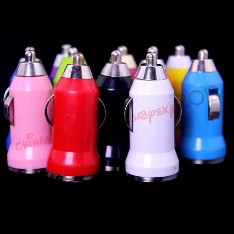 100 шт.красочный мини 5 В 1A USB автомобильное зарядное устройство адаптер питания адаптер для iphone 4 5 6 для samsung mp3 gps