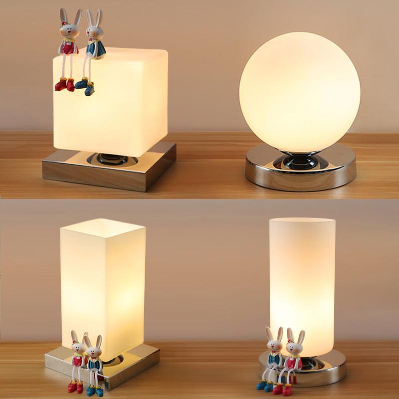 Modern Table Lamp Iron Body and Wood Base Table Lights For Bedroom  Livingroom Children Reading Simple Desk Lamp Lighting
