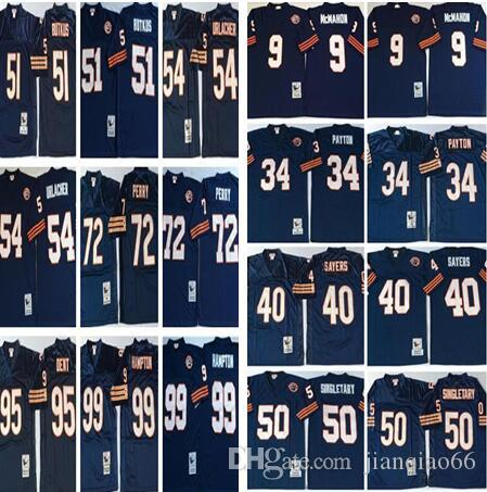 15ed44f2 ... discount men chicago bears retro 34 walter payton 40 gale sayers 72  perry 9 mcmahon 54