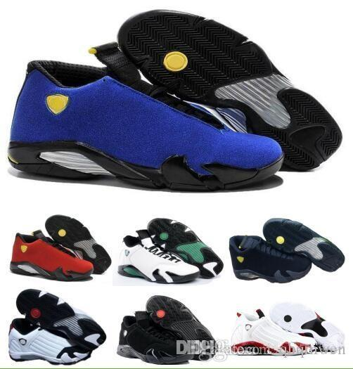 291cfa28795003 14 XIV Oxidized Green Indiglo Thunder Playoffs Black Toe Red Suede 14s Men  Basketball Shoes Sneaker Last Shot Sport Shoes With Box