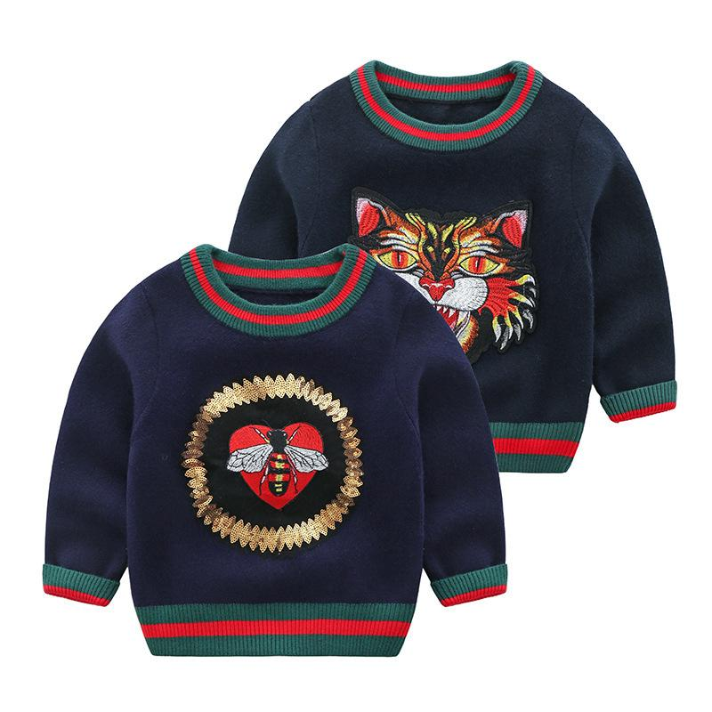 1dd2ca392 Boys Sweater Sleeve Head Children Autumn And Winter Paragraph ...