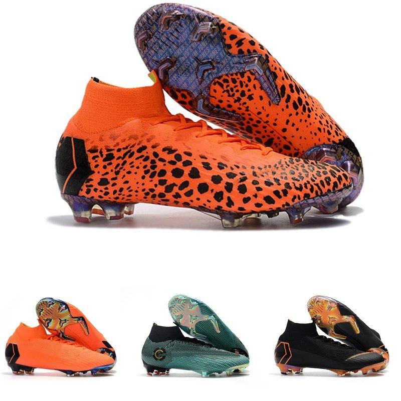 2c83b2d1d727 New Mens Soccer Cleats Superflyx 6 Elite TF Football Boots Orange ...