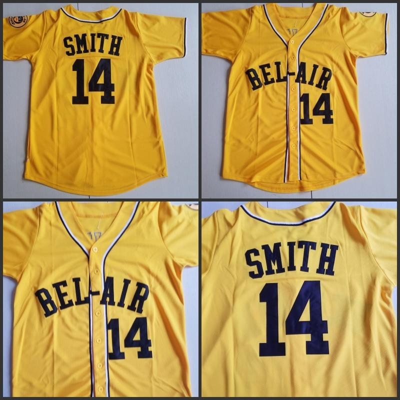 42c24c85b3c1 2019 2018 New The Fresh Prince OF BEL AIR 14 Will Smith Baseball Jersey  Movie Stitched Sports Embroidery 100% Stitched Size S 3XL Hot Sale From  Hw022208