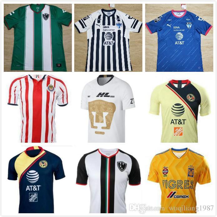 2019 NEW Arrived 2018 2019 Mexico LIGA MX Club America Soccer Jerseys Home  18 19 Raven Club De Cuervos Chivas Monterrey Tigres Football ShirtsS X From  ... f55c5effa
