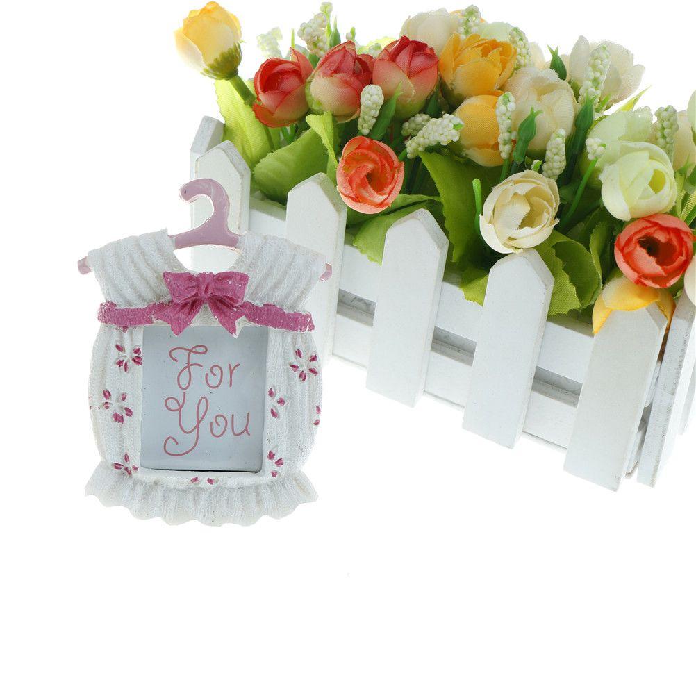 Großhandel Mini Fotorahmen Schöne Nette Rosa Baby Kleid Form ...