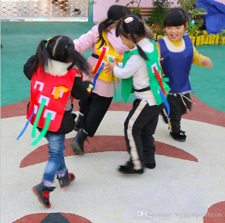 Kids Outdoor Game Parental Kindergarten Catch Tail Vest Toy Training Equipment Toy Family Outdoor Sports Game