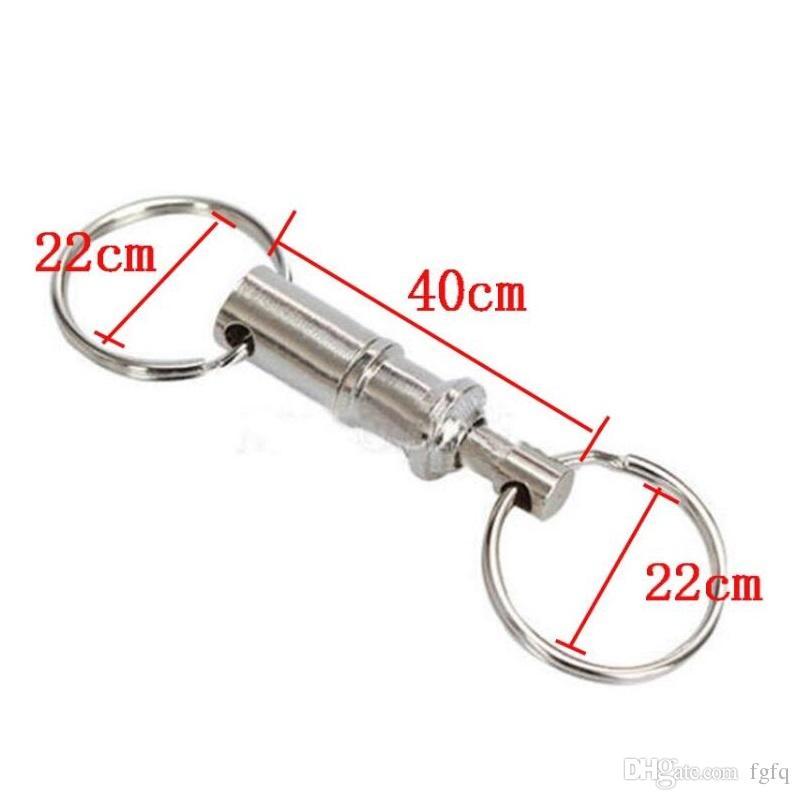 Keychain staccabile a doppia testa portachiavi EDC Outdoor Equipment Keychain a sgancio rapido Key Holder Organizer Moschettoni da campeggio Spedizione gratuita