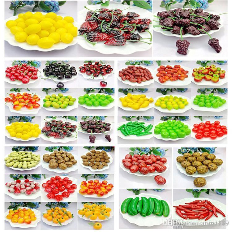 Viele Simulation Kunststoff Falsche Obst Mini Obst Und Gemuse Kuche Fenster Regale Unterstutzung Modell Genommen Dekorieren Spezielle Requisiten