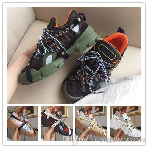 042290b5c2e Flashtrek Sneaker With Removable Crystals Oversize Design Outdoor Hiking  Sneaker Boots Men Shoes Leather Sneakers Platform Women Men Trainer Sneakers  Office ...