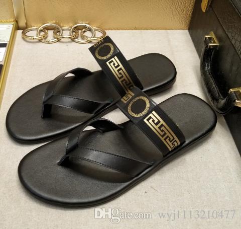 f50b8159e744 Summer 2017 Medusa Men s Flip-flops Fashion Beach Shoes Slippers ...