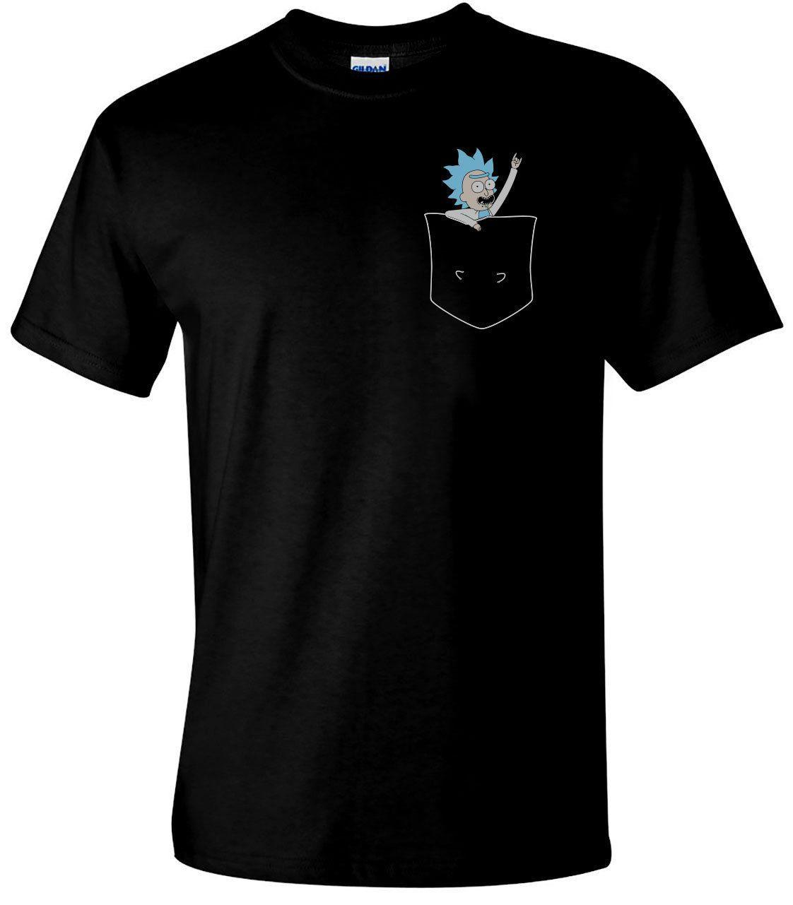 6938d289a ... Rick & Morty T Shirt TINY RICK POCKET Men S Funny T Shirts Christmas
