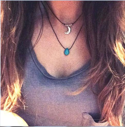 Wholesale Turquoise Drop Choker Turquoise Boho Layering Necklace