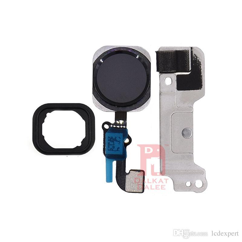 iPhone 6 Plus Fotocamera anteriore Pulsante Home Orecchio Pezzi a vite Set di piastre in metallo Display LCD Touch Screen Digitizer Parti complete complete