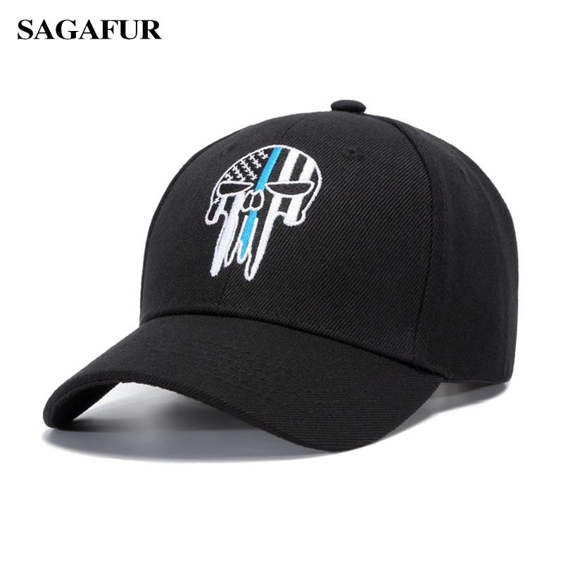 SAGAFUR Embroidery Skull BOHO Girls Hat Baseball Cap Boy Outdoor Causul Unisex Super Cool New Fashion Popular Male Caps Fitted