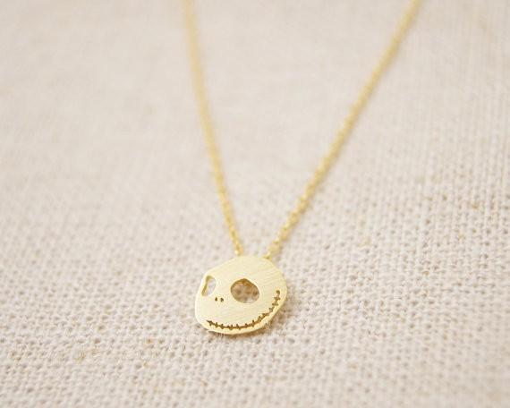 2018 Fashion Gold-color silver plated nightmare skull necklace Pendant Necklace for women gift Wholesale