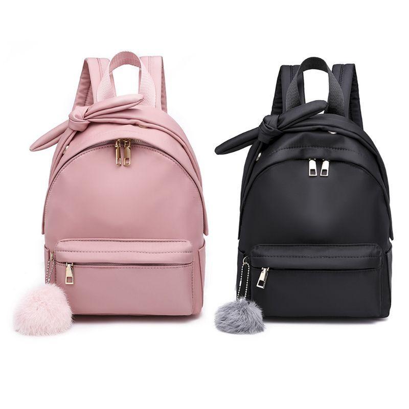 Zipper Women Girl Small Mini Backpack Nylon Rucksack Daypack Cute Travel  School Bag Black Backpack Camera Backpack From Leafie bf9d868dd54d6