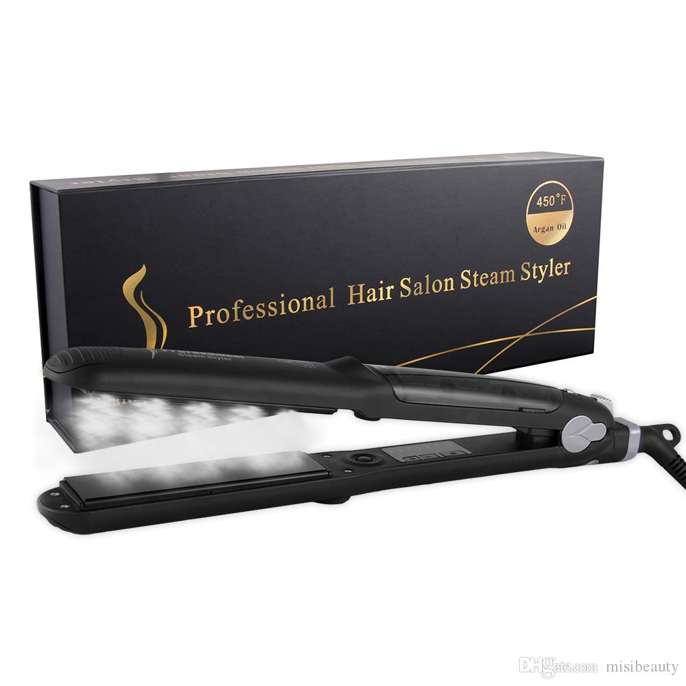 Professional Steam Hair Straightener Iron 450f Fast