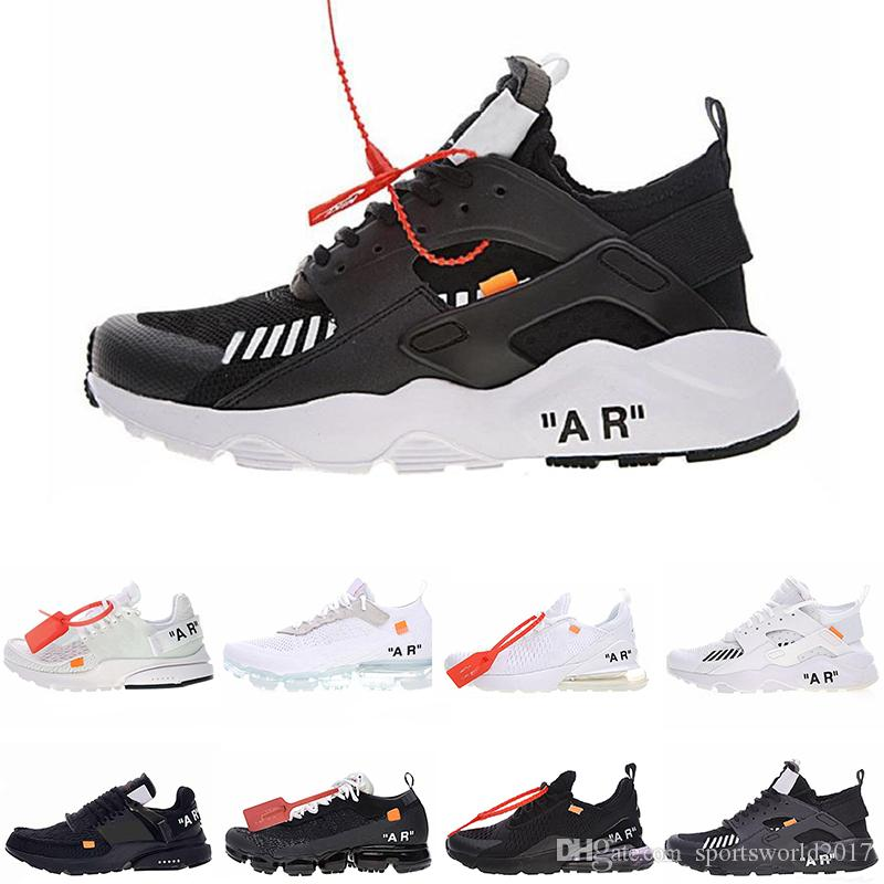newest d6754 58323 Scarpe Da Donne OFF WHITE Nike Vapormax WHITE 2018 New Presto Mens Designer Scarpe  Da Corsa Uomo Off Scarpe Casual Nuove Sneakers Sportive Bianche Nere Da ...
