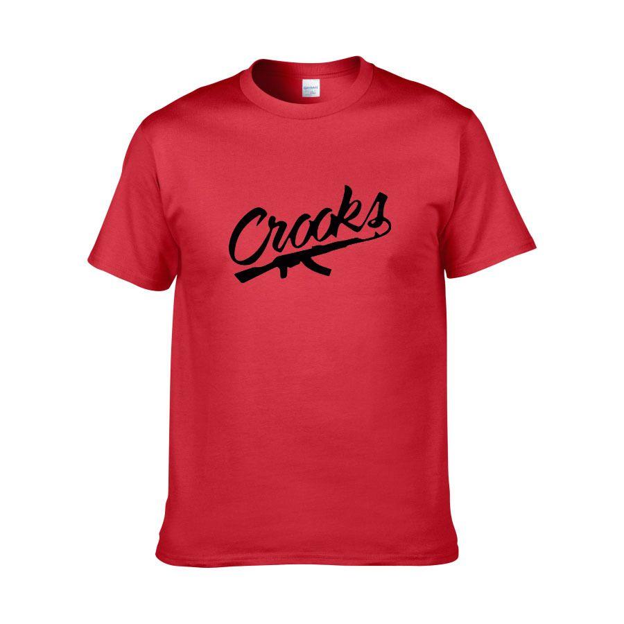 Crooks Und Schlösser Gun Cool Printed Mens Männer T-shirt T-shirt Mode 2018 Neue Kurzarm Baumwolle T-shirt T-stück Camisetas Hombre