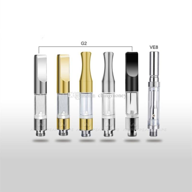 CE3 510 G2 Cartridge Vape Tank Gold Metal plastic Drip Tips WAX Thick Oil Vaporizer Atomizer For BUD Touch O Pen Battery DHL