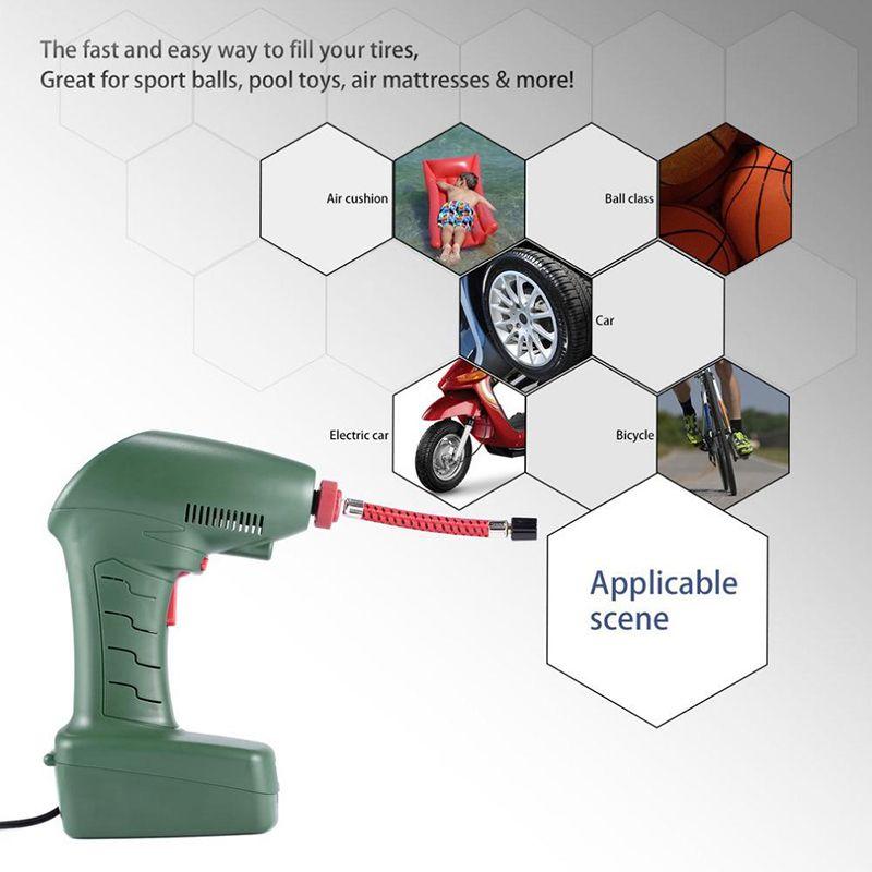 Universal Portátil Handheld Elétrica Auto Pneu Do Carro Inflator Bomba De Ar Compressor de Pneu Ferramenta de Insuflador para Esporte Ao Ar Livre Bola Brinquedos