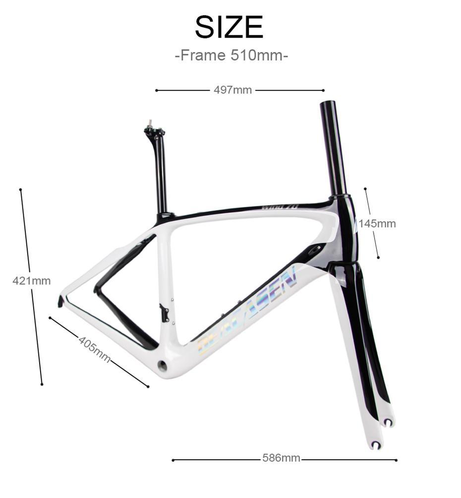 Deacasen 2018 Carbon Bicycle Road Frame Di2 & Mechanical Racing Bike ...