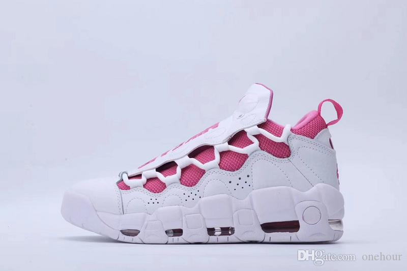 New Men Women Basketball Shoes 2018 More Money QS to support Breast Cancer&latest Global Currency Pack top quality Sneakers