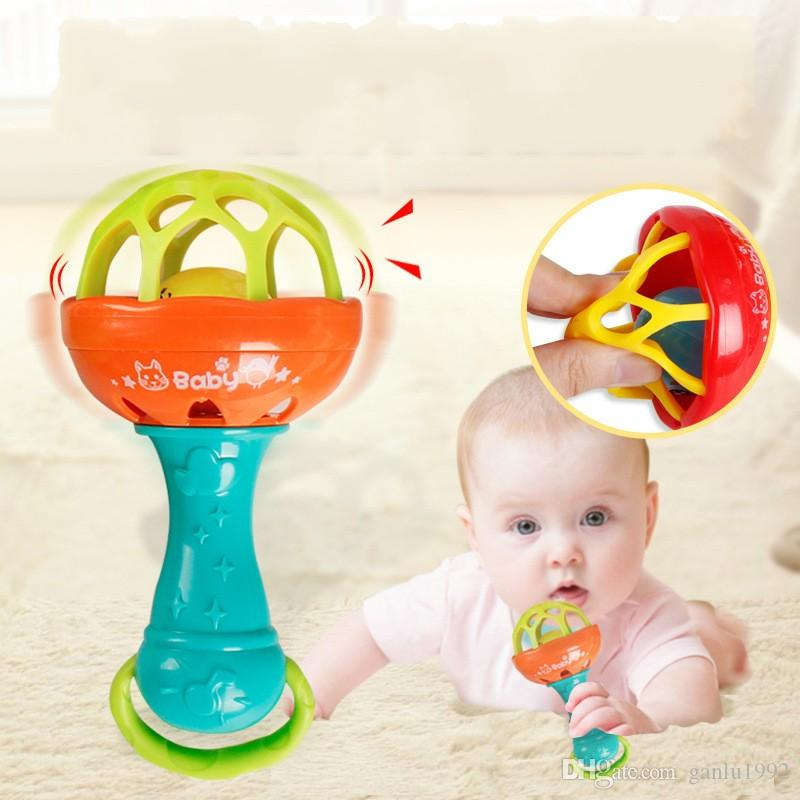 Baby Toy Develop Intelligence Grasping Hand Bell Rattle Teeth Gum Funny Learning Toys For Children Gifts 3bl W