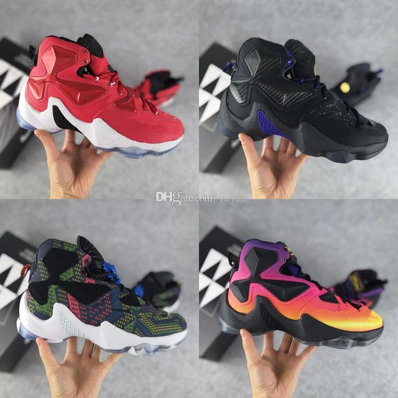 low priced cab95 8900c Acheter 2018 Nouveau Lebron 13 XIII Hommes Basketball Running Designer  Marque De Luxe Chaussures De Sport James 13 Pour Hommes LBJ 13s Baskets  Baskets De ...