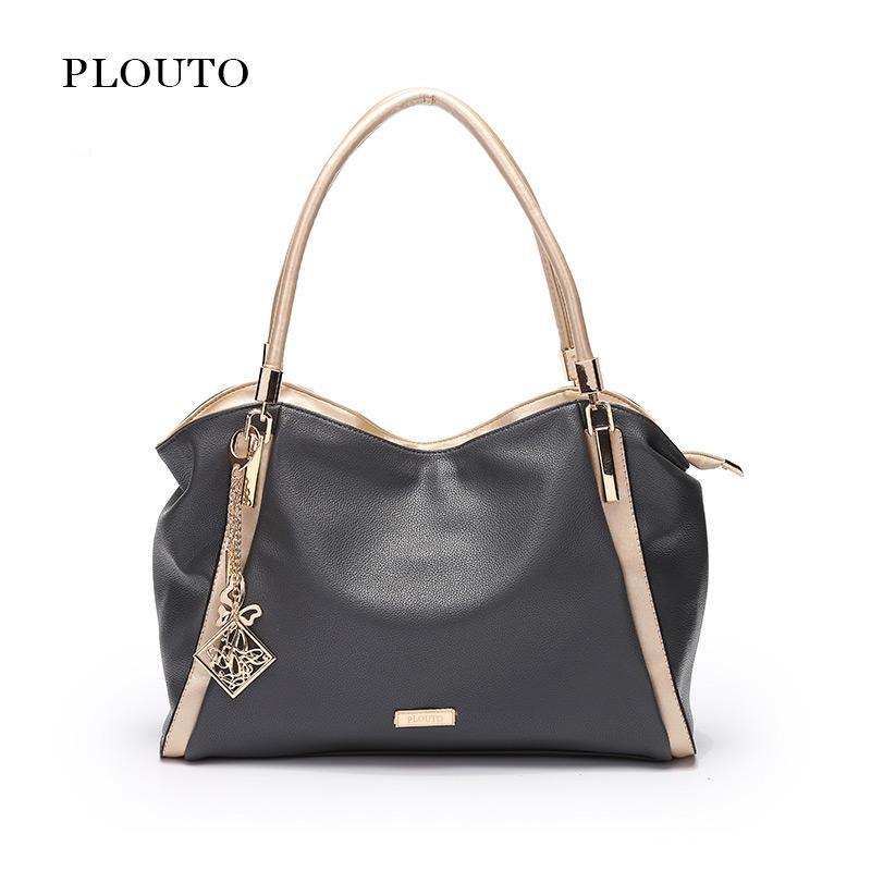 7410d2f8af1c Plouto Brand Designer Women Handbag Female PU Leather Bags Handbags Ladies  Totes Portable Shoulder Bags Office Ladies Hobos Bag