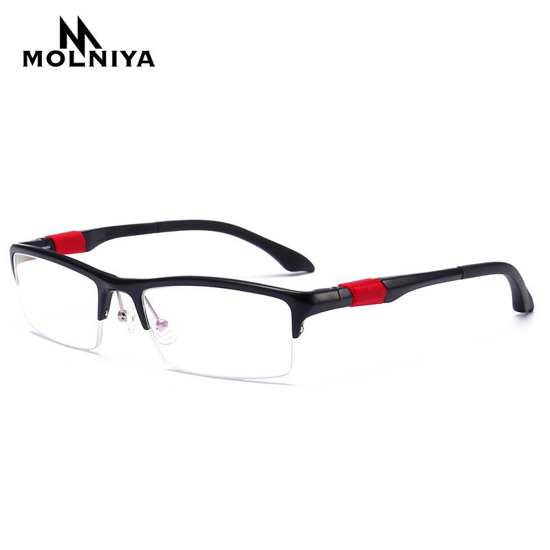 8747027b4c 2019 2018 Man Glasses Frame Half Rim Eyeglasses Frames Men Aluminum Buffalo  Horn Glasses Optical Frames De Grau Masculino From Value333
