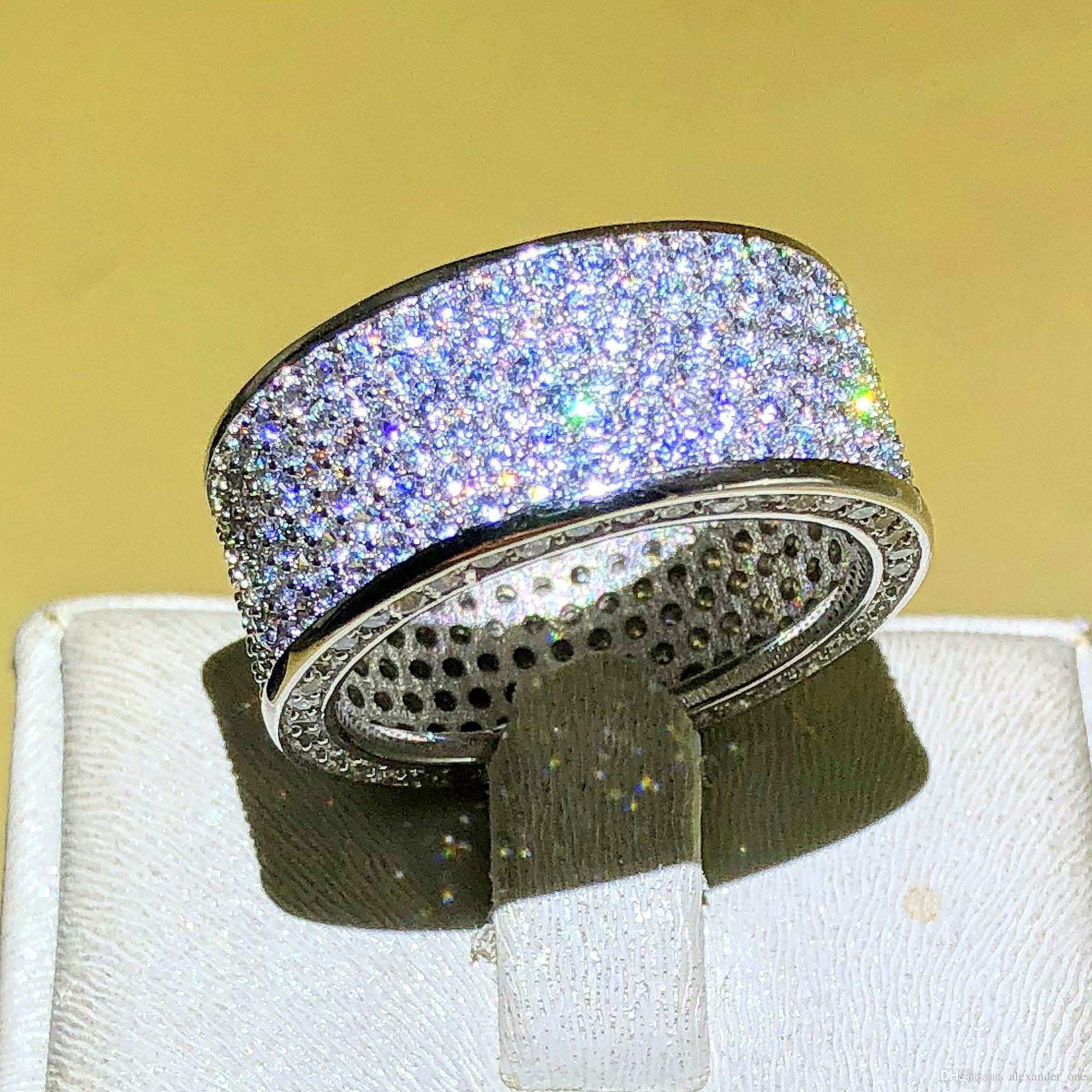 Luxurious Jewelry Paragraph 925 Sterling Silver Gemstone Rings