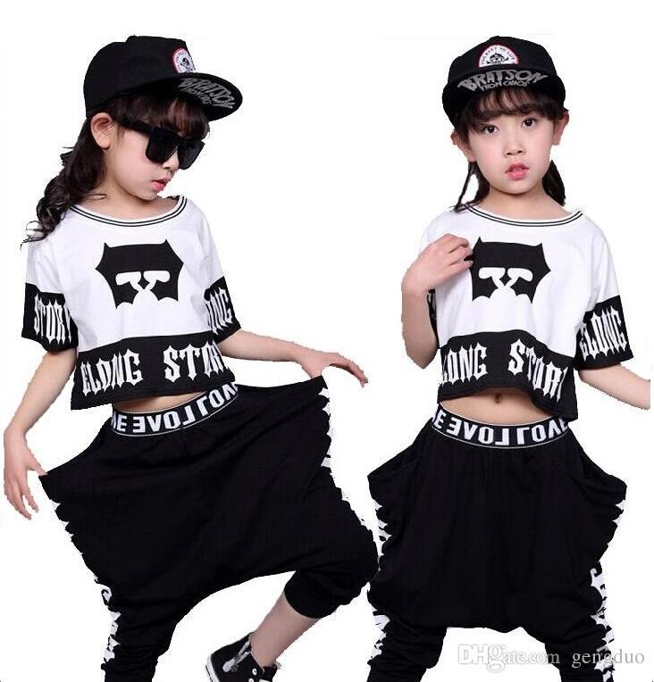 Compre Trajes De Moda Para Niños Streetwear Trajes Ropa Para Niños  Conjuntos De Danza Hip Hop Para Niñas Y Niños Trajes De Ropa De Jazz  Conjuntos De Niños ... 8d9fb0a0145