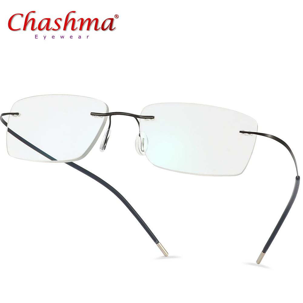 878b7605d3 2019 Titanium Glasses Frame Men Rimless Prescription Eyeglasses Women  Myopia Optical Frames Ultralight Korean Screwless Eyewear From Sensational