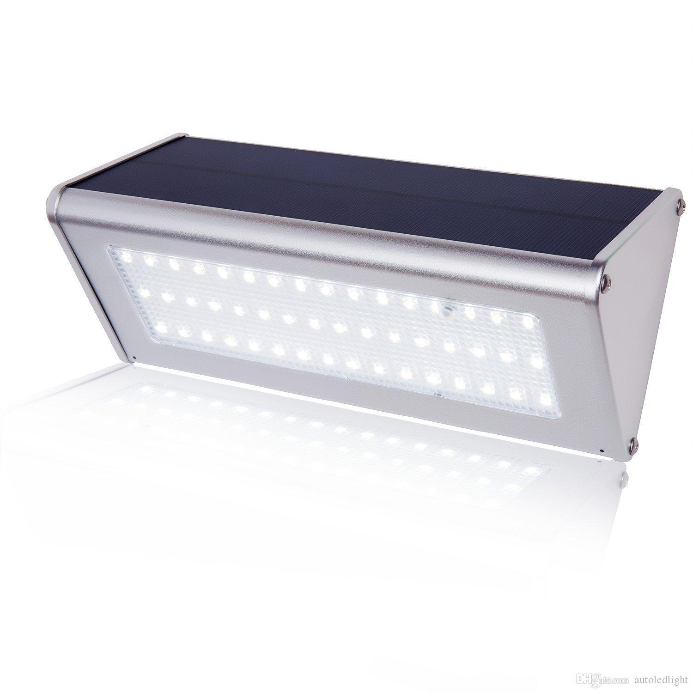 Capteur de radar à micro-ondes extérieur à DEL alimenté à l'énergie solaire Lampe de jardin ABS + PC Couverture 1000lm Ampoule étanche