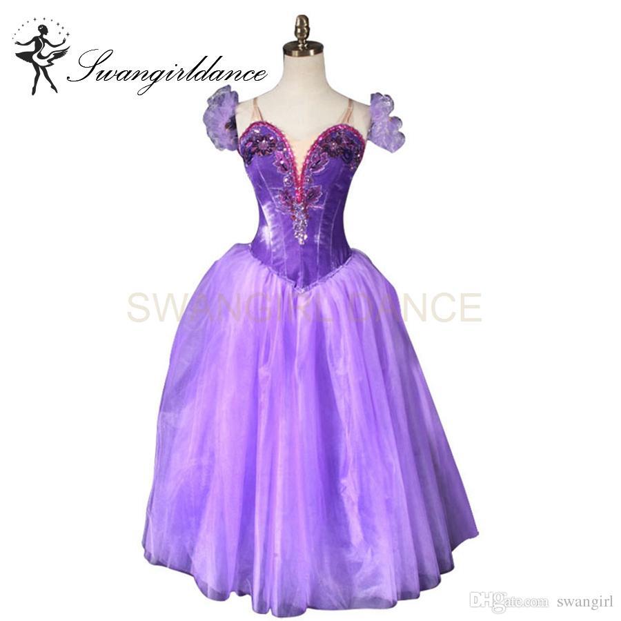 0d67ce17ca7 Acheter Violet Ballet Romantique Tutu Longue Robe Ballet Rouge Ballerine Tutu  Robe Filles Professionnel Tutu Ballet Danse Tutus BT9088B De  324.73 Du ...