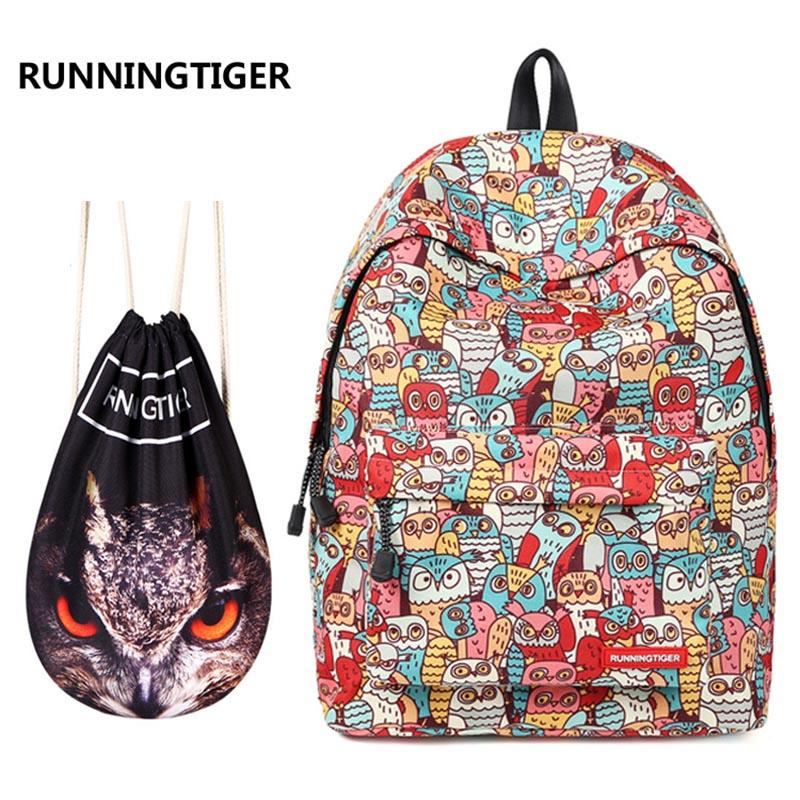 c515ee13d730 New 2018 Girls School Backpack Set Cute Bookbag For Teens Water Resistant  Owl Printed Primary Junior High University School Bag Shoulder Bags For  Women ...