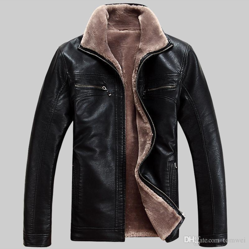 Acquista Giacche Di Pelliccia Da Uomo Cappotti Invernali Caldo Giacche In  Pelle Giacca A Vento Spessore Di Grandi Dimensioni M 4XL Cashmere Outwear  Cappotto ... c2b2653c0fd