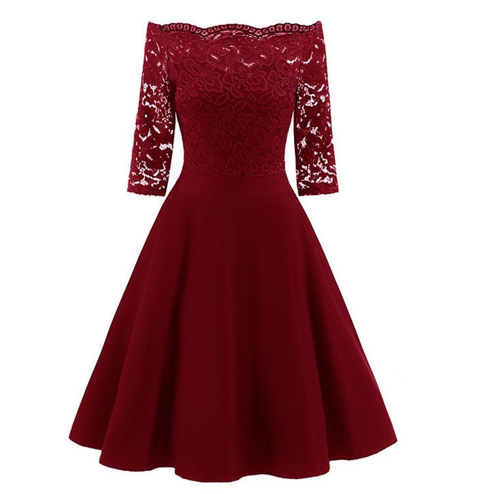 Acquista Fuori Spalla Nero Blu Rosso Abito Di Pizzo Donna Scava Fuori  Streetwear Casual Runway Dress Breve Winter Dress Donna Vestidos 2019 A   50.23 Dal ... dc5b8917ab9