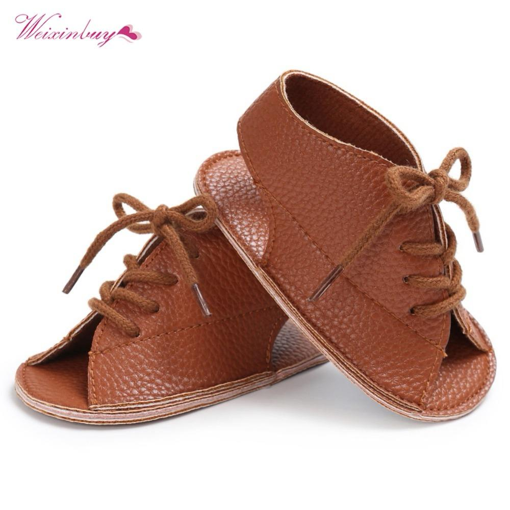 d50f7b738c62 WEIXINBUY Handsome Baby Boys Sandals Shoes Summer Fashion Lace-Up PU ...